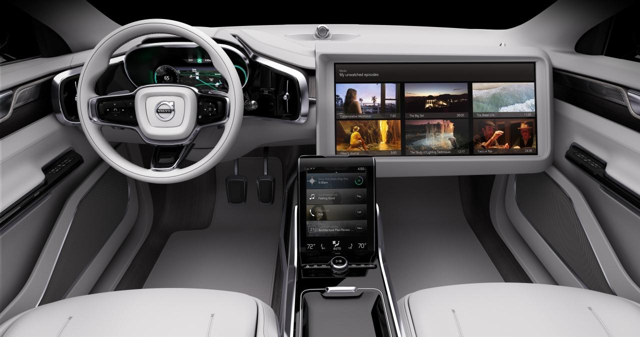 volvo concept 26 laat zien hoe het interieur van de zelfrijdende auto zich aanpast aan de