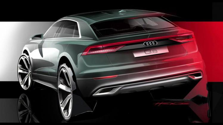 Audi Q8 Audi Schets Achterkant Nieuwe Q8